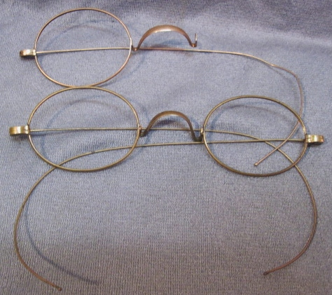 ANTIQUE 10K GOLD WIRE FRAMES~EYEGLASSES~ROUND SPECTACLE ...